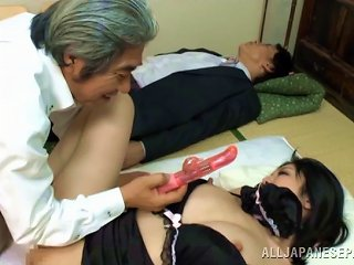 A Much Older Guy Fucks The Hot Japanese Office Girl